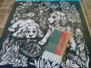 TWO EXTRA LARGE DOODLE ART PAINTINGS