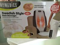 Homedics Swedish style massage chair ~ new in box ~ heated rollers!
