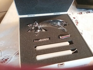SWAR0VSKI shooting star  candle holder with candles and crystals