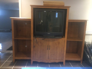 Tv Cabinet/Tv Stand with shelves/Entertainment Unit with TV