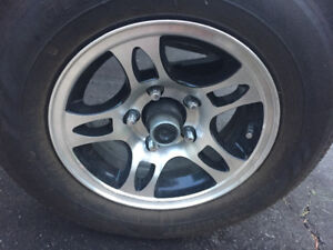 CARGO ALUMINUM TRAILER RIMS & TIRES WITH LESS THAN 500km!!
