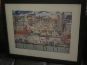 Autographed Print of London, England - Artist Christopher Rogers