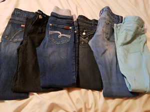 Girls size 7/8 jeans and leggings