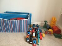 Huge Thomas Trackmaster set with trains, track and storage bix