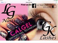 Eyelash extensions and calgel nails