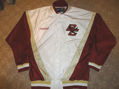 Boston College Eagles Authentic Basketball - Authentic Reebok Boston College Eagles Warm-up Basketball Jersey Jacket NCAA