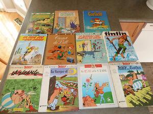 Bandes dessinées français  (Astérix, Tintin)/ French comic books