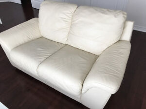 PRICED TO SELL Leather Loveseat and Sofa
