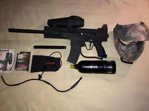 Tippmann x7 Paintball Gun with CO2 Tank, Mask, & Accessories