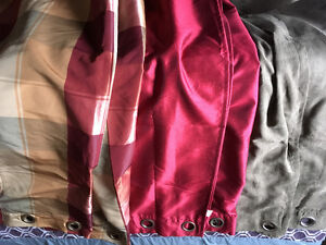 3 sets of grommet panel curtains
