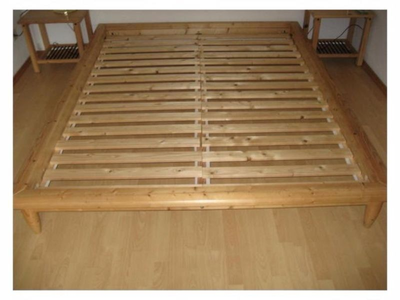 Ikea Solid Wood Hagali Double Bed Frame Like New In