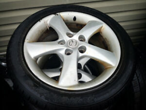 mazda6 factory rims 215/50/17 two tire good