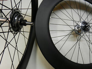 88mm Carbon Track Wheels - Dura Ace 7600 Hubs
