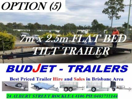 TRAILER HIRE 7mx2.5m FLATBED & 4X4 WITH RAMPS FROM $85 P/DAY