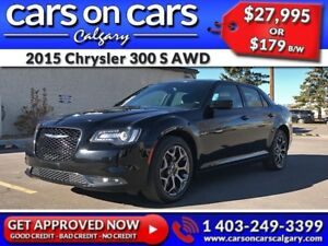 2015 Chrysler 300 S AWD w/Leather, Navi, PanoRoof $179 B/W INSTA
