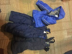 Size 2 T snowsuit with extra snowpants
