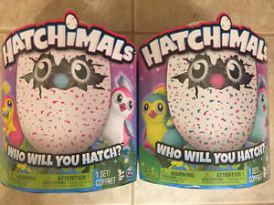 HATCHIMALS WHITE PINK TEAL ONLY ONE OF EACH!!!!