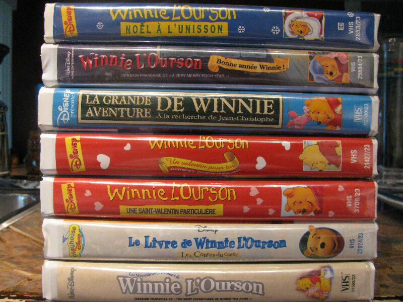 Vhs de winnie l 39 ourson disney cd dvd et blu ray for Caillou francais piscine