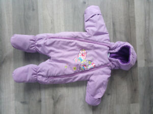 0-3 month purple snowsuit - barely used
