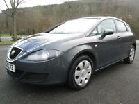 06/56 SEAT LEON 1.6 ESSENCE 5DR HATCH IN GREY WITH ONLY 75,000 MILES