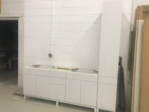 Vanity Cabinets with Tower - Handles and Counter to be added