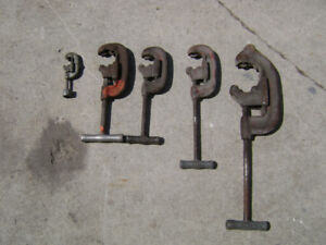 RIGID pipe cutters  various sizes