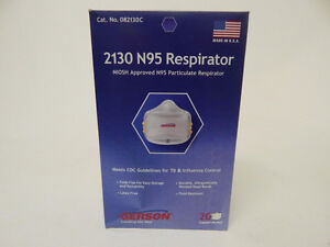 Gerson 2130 N95 Smart-mask Particle Respirator Mask - 20-Pack
