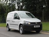 2013 VOLKSWAGEN CADDY RARE 2.0 140BHP 6 SPEED MAXI IN WHITE LONG WHEEL BASE