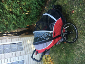 Remorque vélo pour enfant deux places