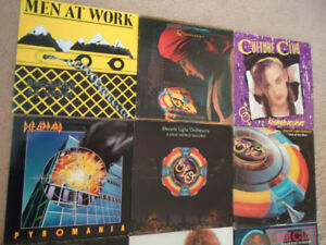 18 RECORDS LOT:  DEF LEPARD, SUPERTRAMP, MEN AT WORK, E.L.O. (3)