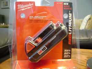Brand New Milwaukee M18 Red Lithium Battery for Sale