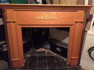 Propane Fireplace and Mantel