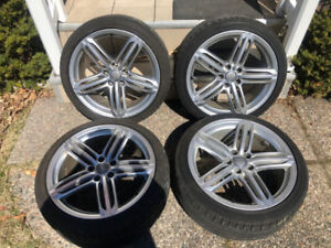 """Audi S4 19"""" OEM Mags With 255/35/19 Summer Tires"""