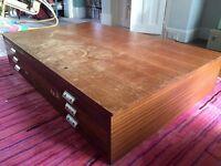 Plan chest - wooden