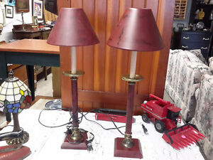 PAIR OF MATCHING MODERN TABLE LAMPS $45.00 FOR BOTH