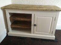 Handpainted pine tv cupboard/ unit