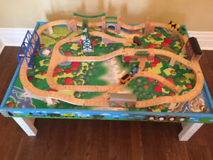 Thomas the Tank Train Table and Wooden Track