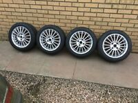 4 Stud fox alloys Nankang Ns2r semi slick track tyres