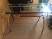 Glass computer desk will sell for £50.00 if can collect by Saturday!!!