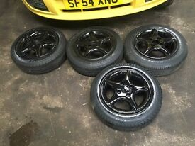 4x100 alloy wheels lupo corsa polo