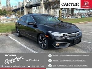 2016 Honda Civic Touring + SPRING CLEARANCE + CERTIFIED + NAVI !