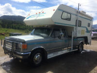 Ford F350 Dually Ext. Cab, 2 Wheel Drive With Camper