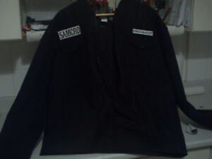 SONS OF ANARCHY MENS XXXL  JACKET WITH REAL CREST