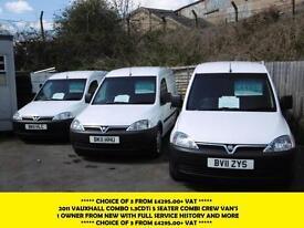 2011 VAUXHALL COMBO 1.3 CDTI 5 SEATER COMBO/CREW VAN *** CHOICE OF 3 FROM £4295.
