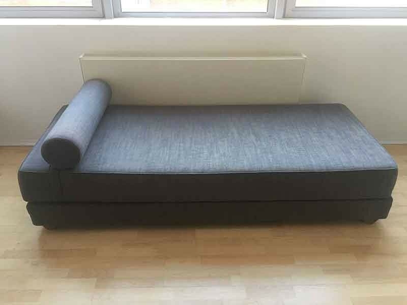 Blue Grey Sleeper Daybed Sofa Bed