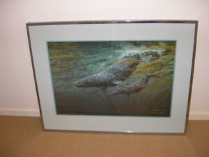 """Large 1988 Mark Hobson's """"Heading for Cover"""" Art Print signed &"""