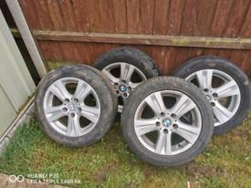 Bmw alloys with tyres 205 55 16 91w