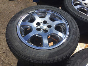 4 - 185/60R/15 Tires and 5 bolt rims