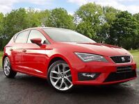 SEAT Leon 2.0 TDI CR FR (Tech Pack) 5dr (start/stop) (red) 2014