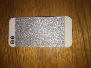 Silver sparkly iPhone 5 case